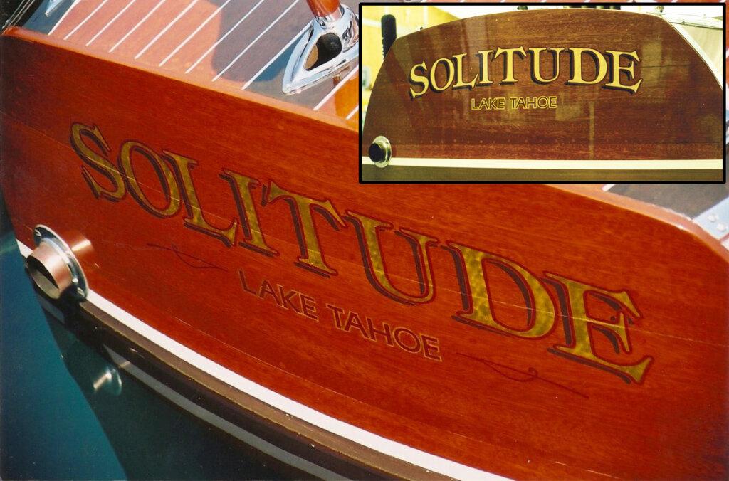 custom boat transom solitude lake tahoe california
