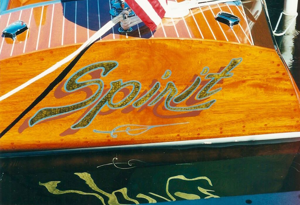 custom boat transom spirit final california