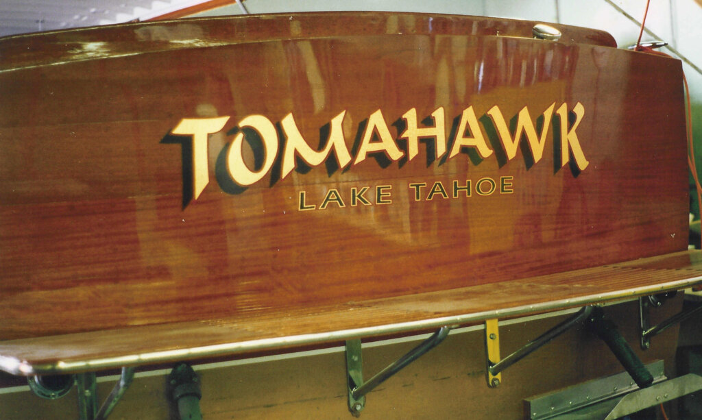 custom boat transom tomahawk lake tahoe california