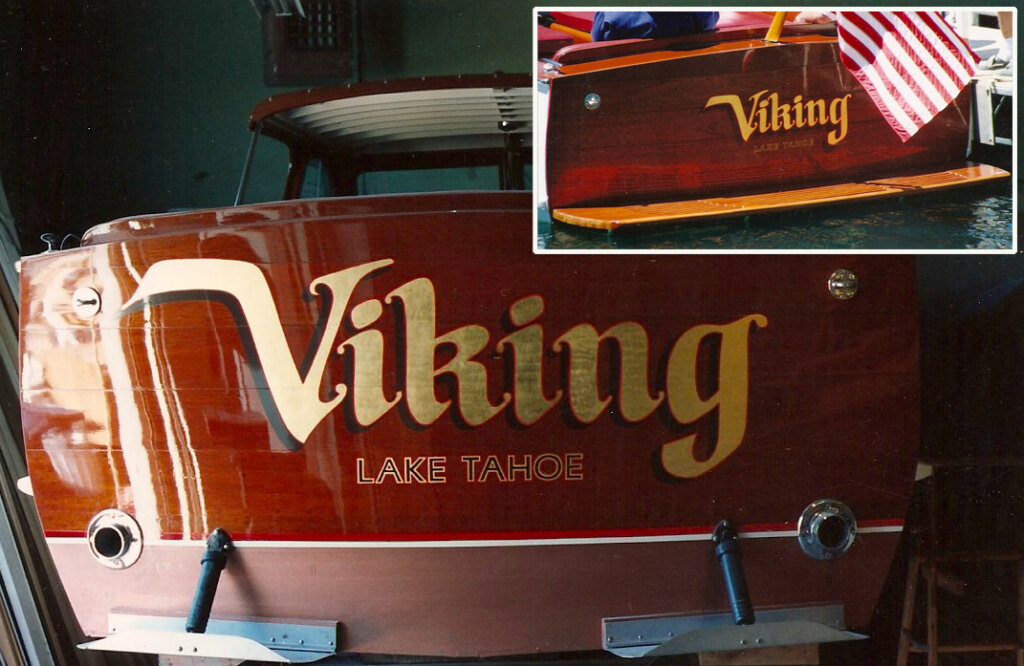 custom boat transom viking lake tahoe california
