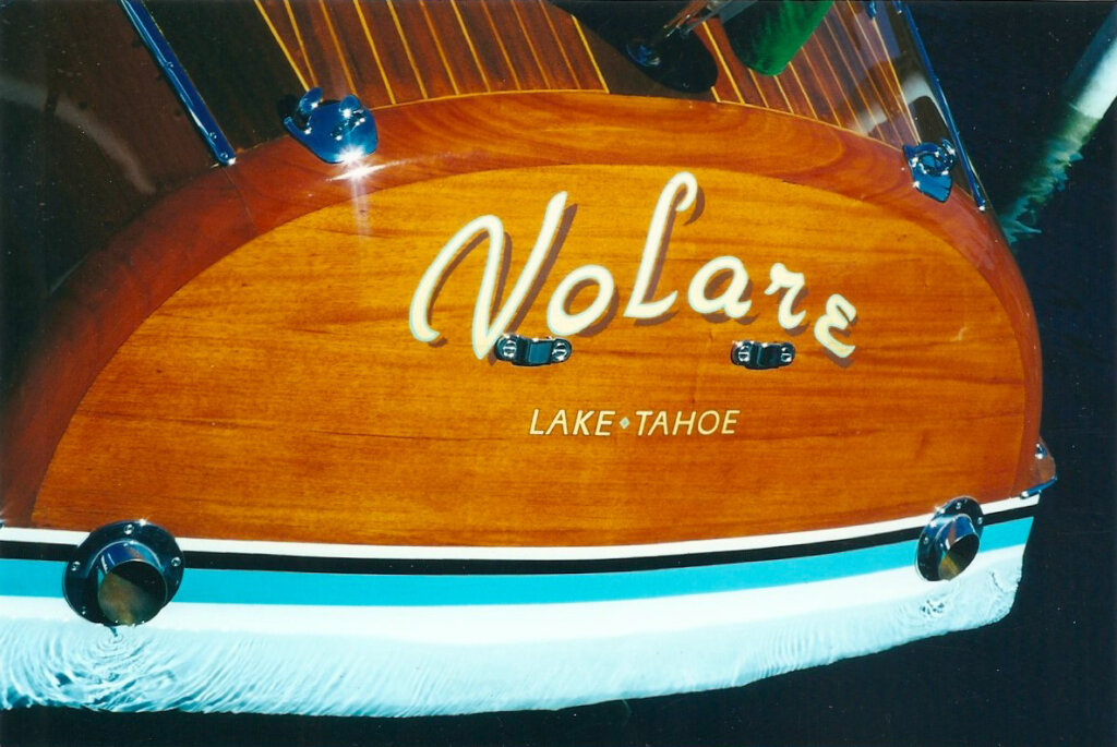 custom boat transom volare lake tahoe california