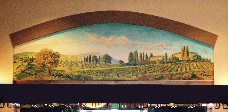 custom mural Livermore bocce left california
