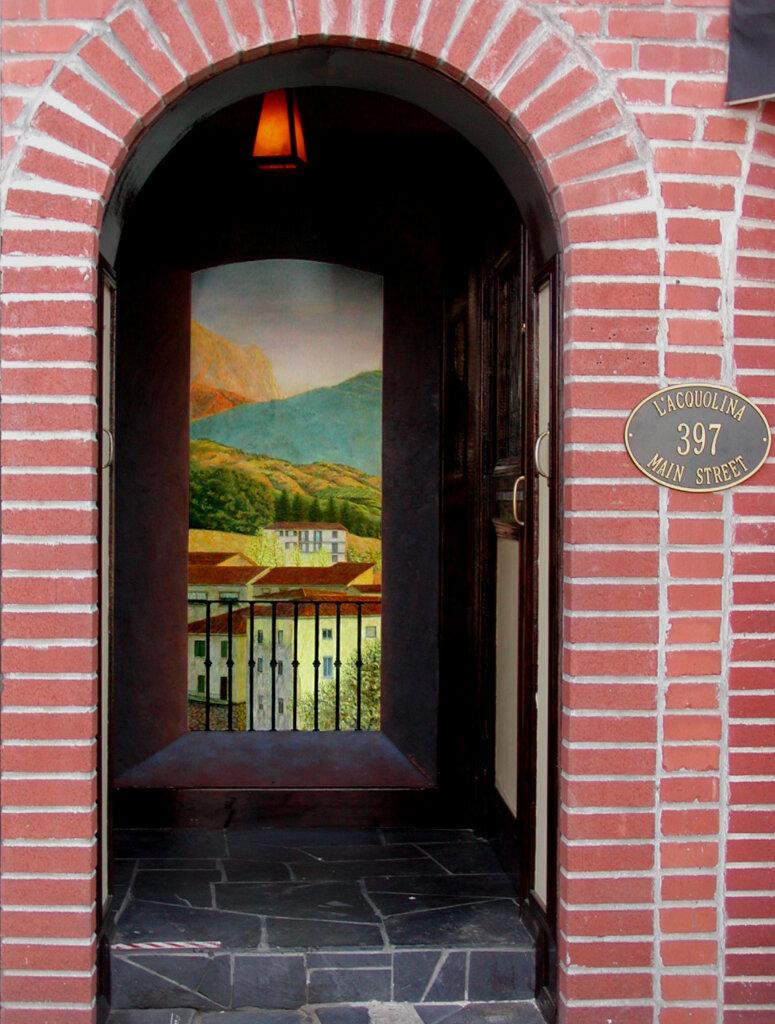 custom mural Los Altos european restaurant california