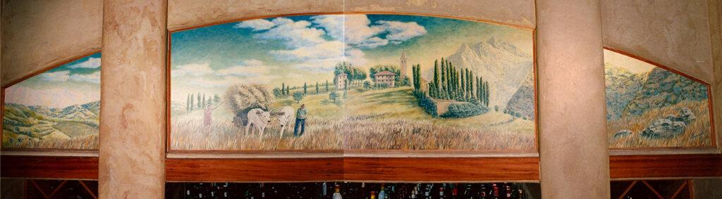 custom mural Los Gatos bocce final california