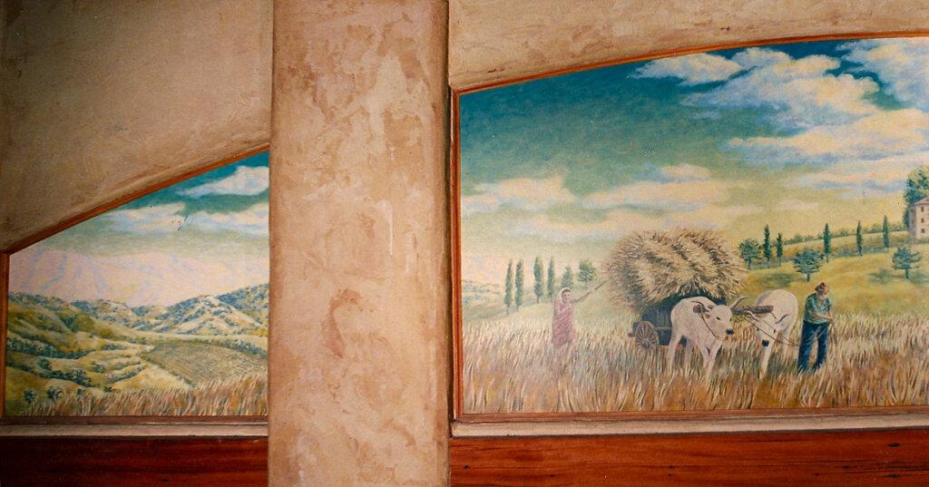custom mural Los Gatos bocce left california