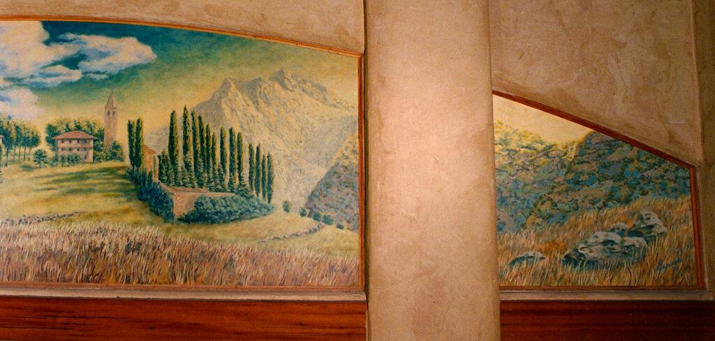 custom mural Los Gatos bocce right california