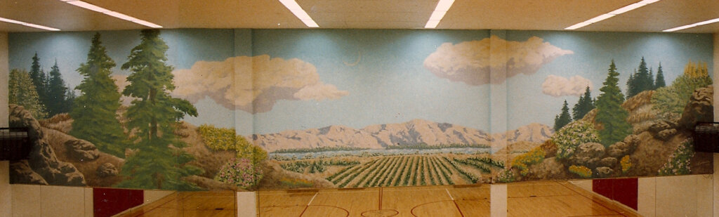 custom mural Los Gatos fit club california