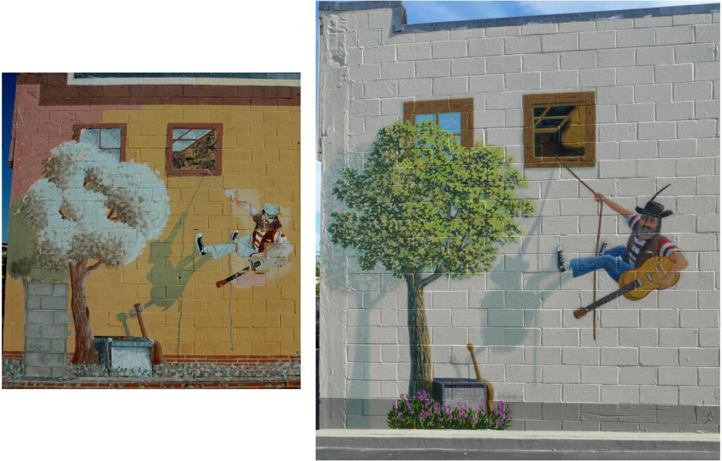 custom mural Redwood City gelb music store california