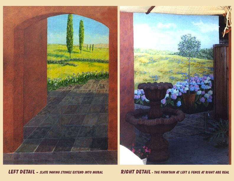 custom mural San Jose backyard transform detail california