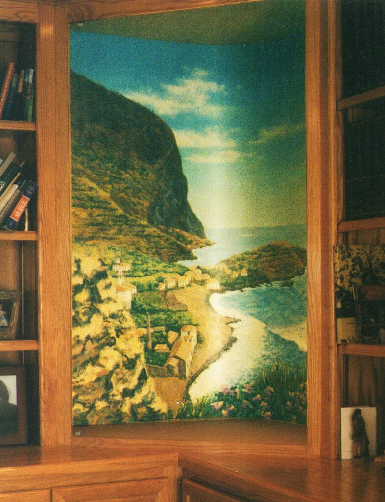 custom mural San Jose estate cabinet california