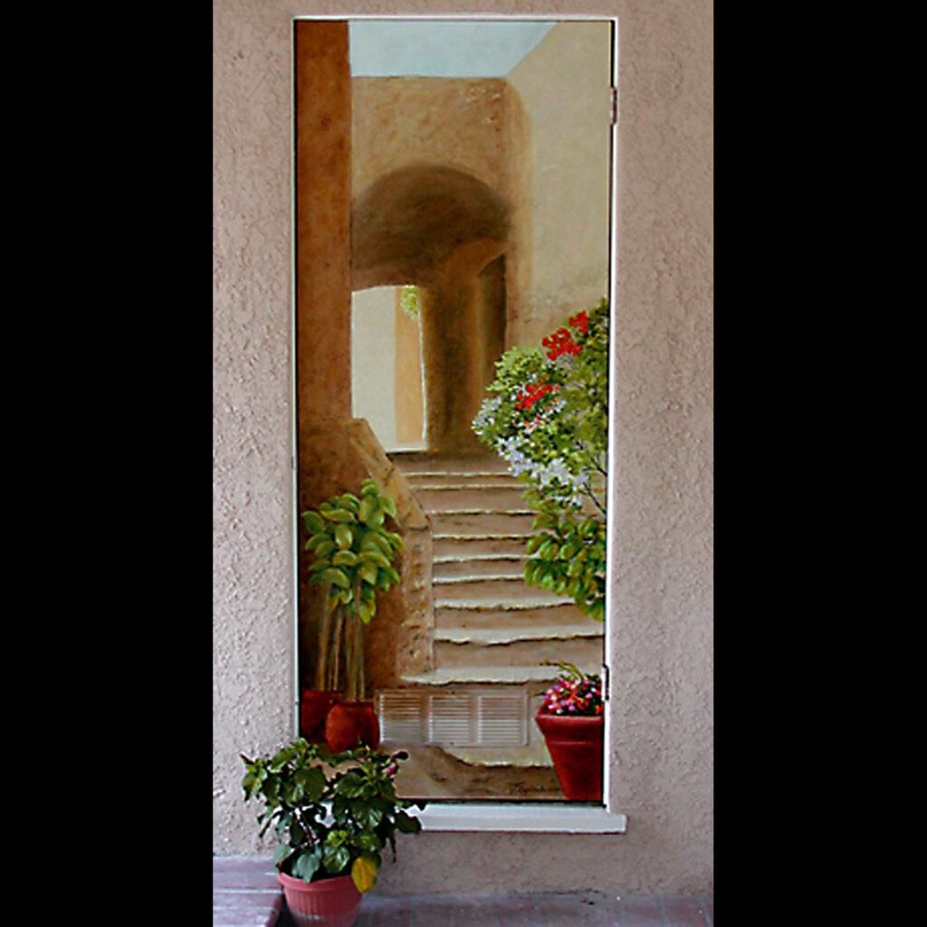 custom mural San Jose garden steps california