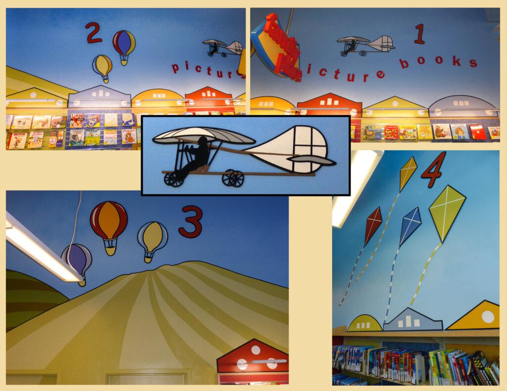custom mural San Jose library numbers california