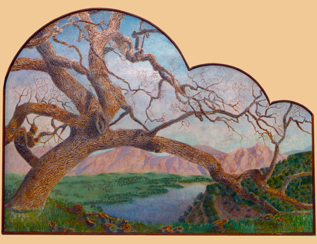 custom mural Saratoga tree california