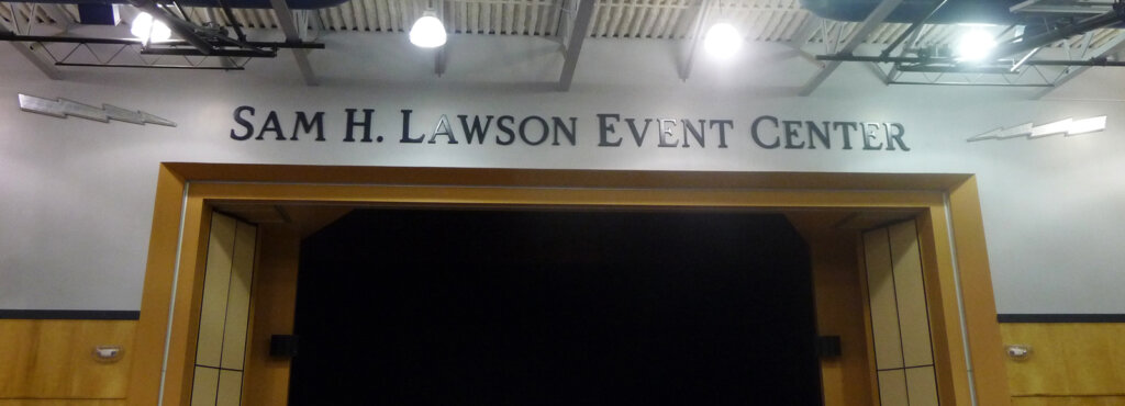 custom school signs Cupertino lawson event center