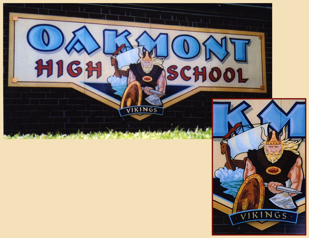 custom school signs Fairfield oakmont high mascot