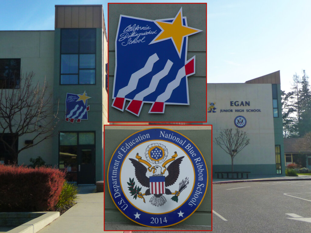 custom school signs Los Altos egan high award california blue ribbon