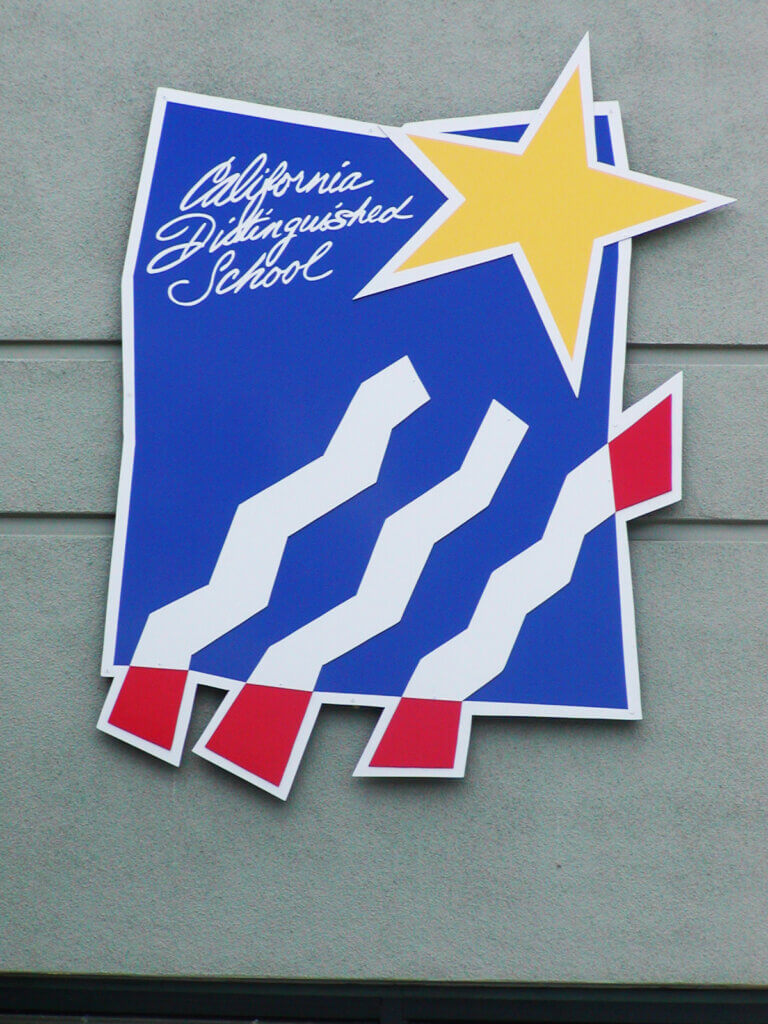 custom school signs Los Altos egan high california distinguished award emblem