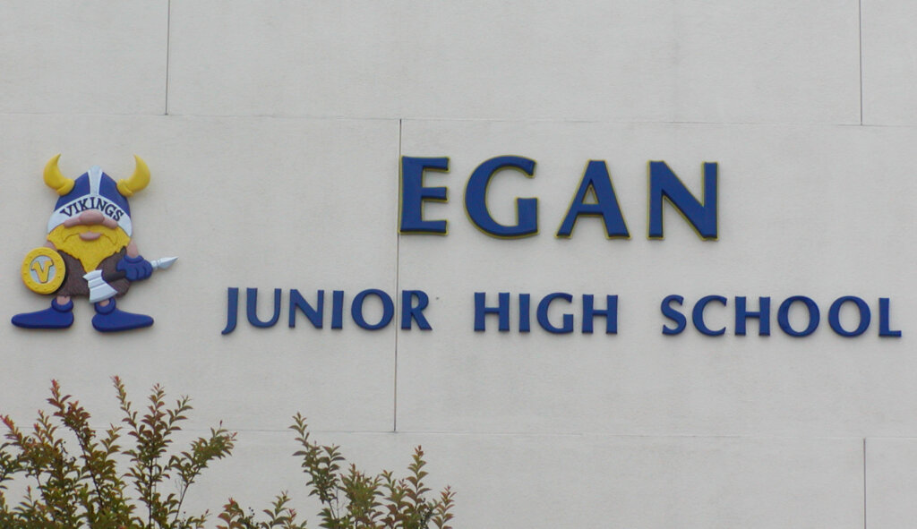 custom school signs Los Altos egan high exterior mascot letters