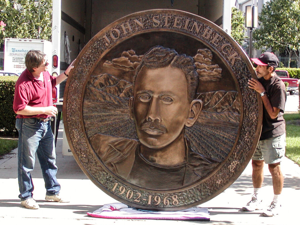 custom school signs San Jose allen steinback elementary medallion