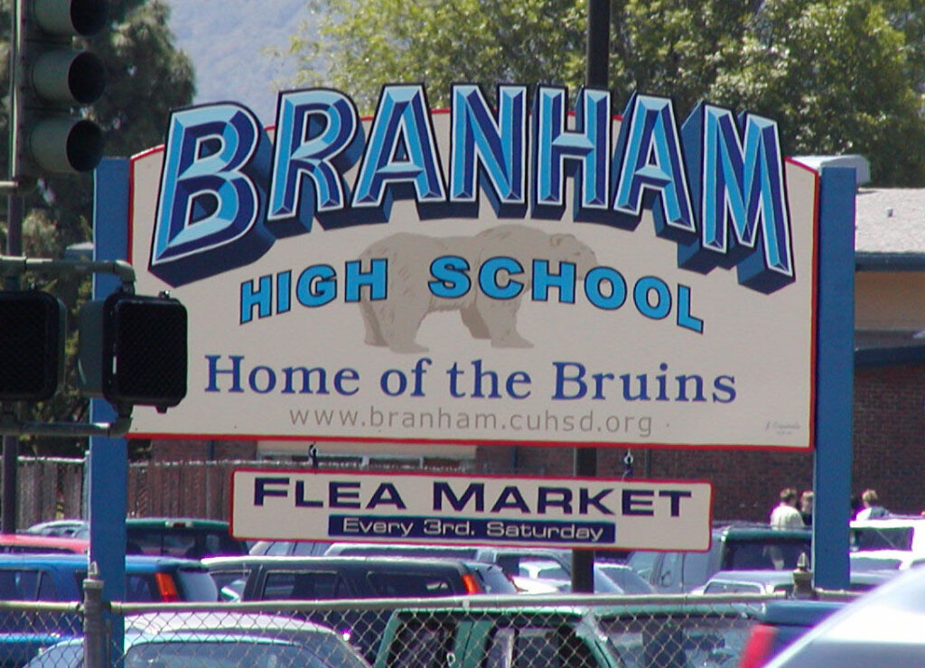 custom school signs San Jose branham mascot california parking lot