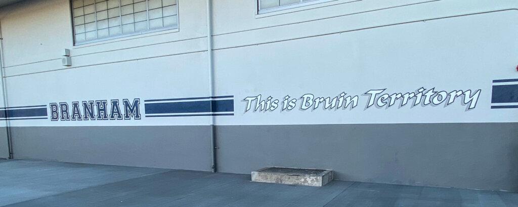 custom school signs San Jose branham wall painting pool deck