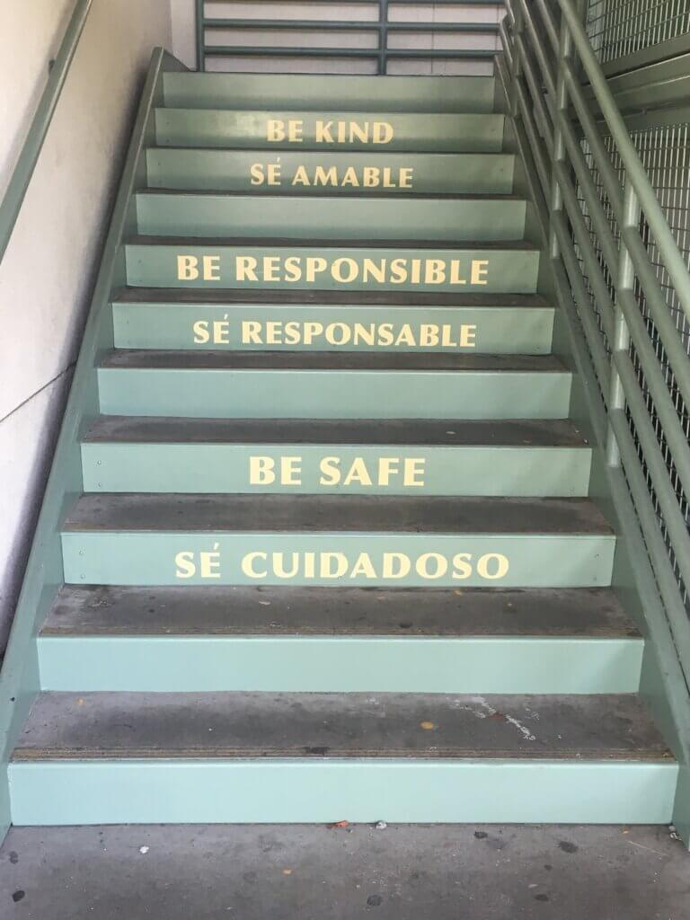 custom school signs San Jose empire gardens painted stairs