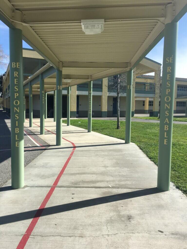 custom school signs San Jose empire gardens painted walkway