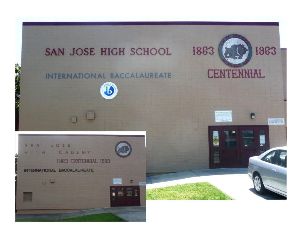 custom school signs San Jose high wall international baccalaureate