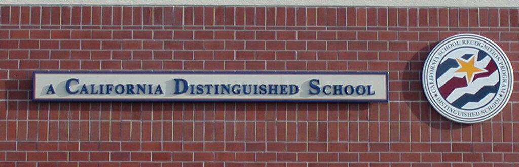 custom school signs San Jose pioneer high california distinguished award