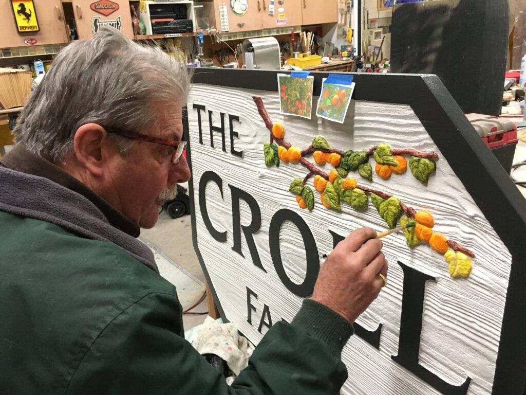 custom sign los altos croll farm john painting branch california