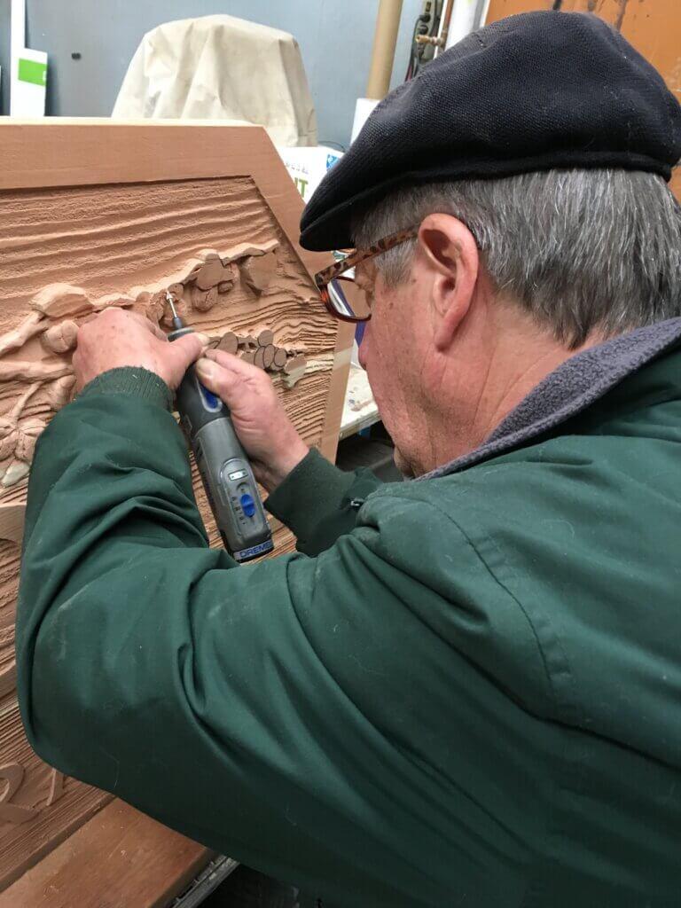 custom sign los altos croll farm john sanding wood california