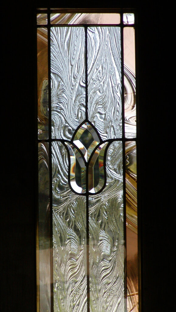 stained glass Cupertino bondar door entry detail california
