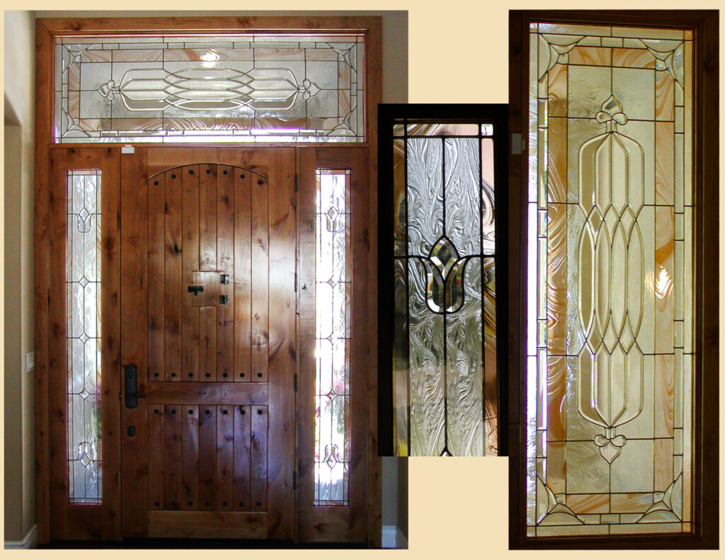 stained glass Cupertino bondar door entry final california