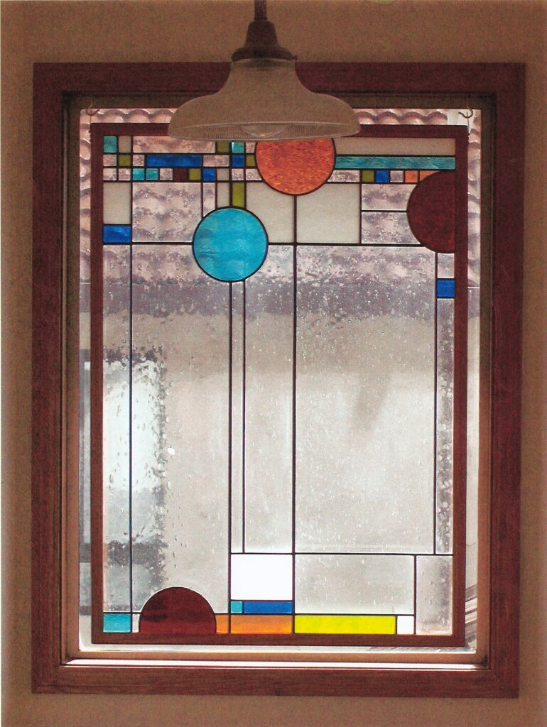 stained glass Cupertino panels doudna california