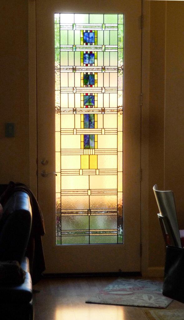 stained glass Gilroy moeen window door final california
