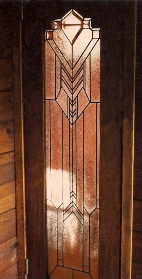 stained glass Los Gatos door entry chevronade california