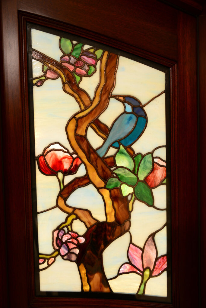 stained glass Los Gatos door entry detail 1 california