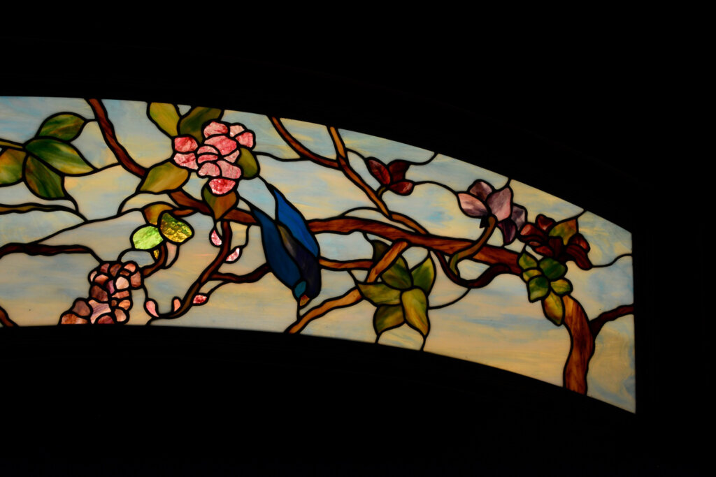 stained glass Los Gatos door entry detail 3 california