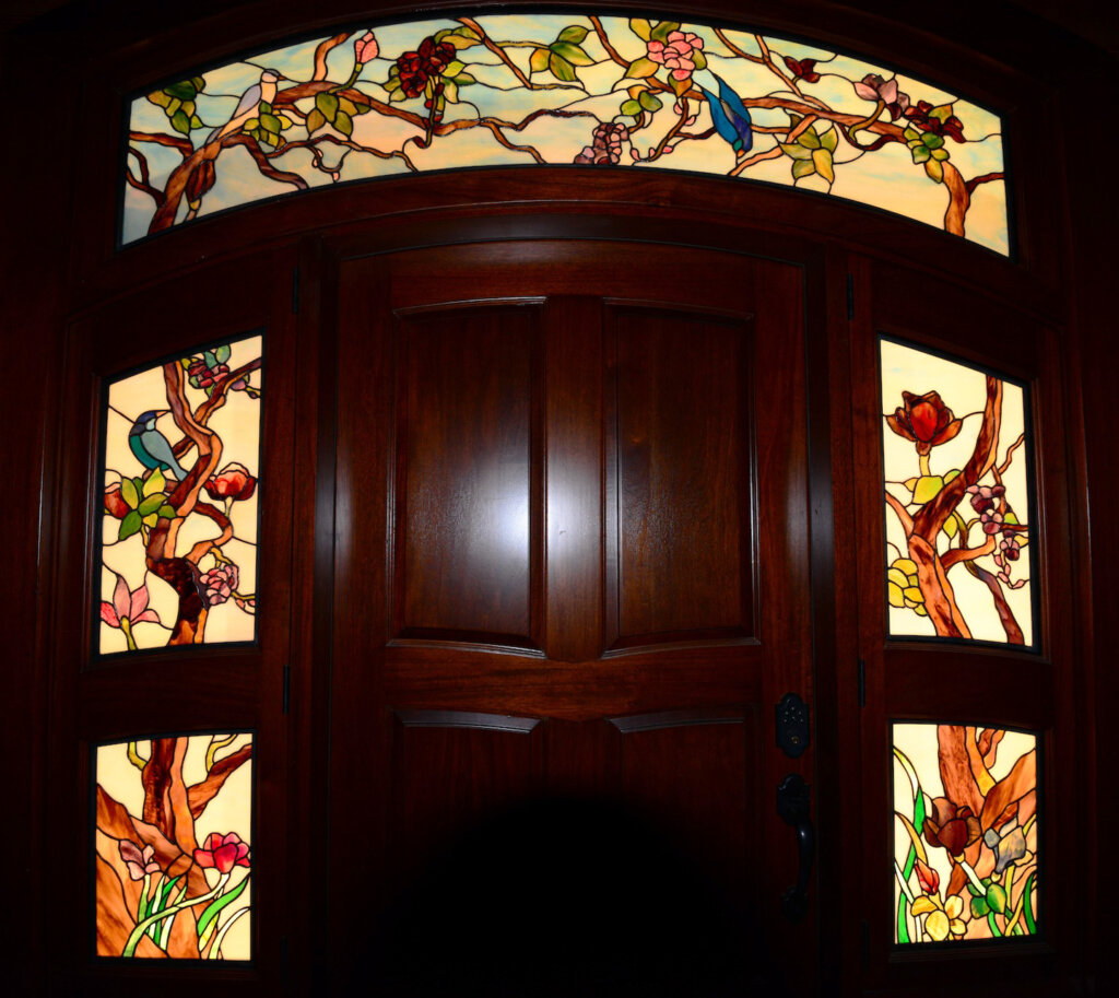 stained glass Los Gatos door entry seltzer california
