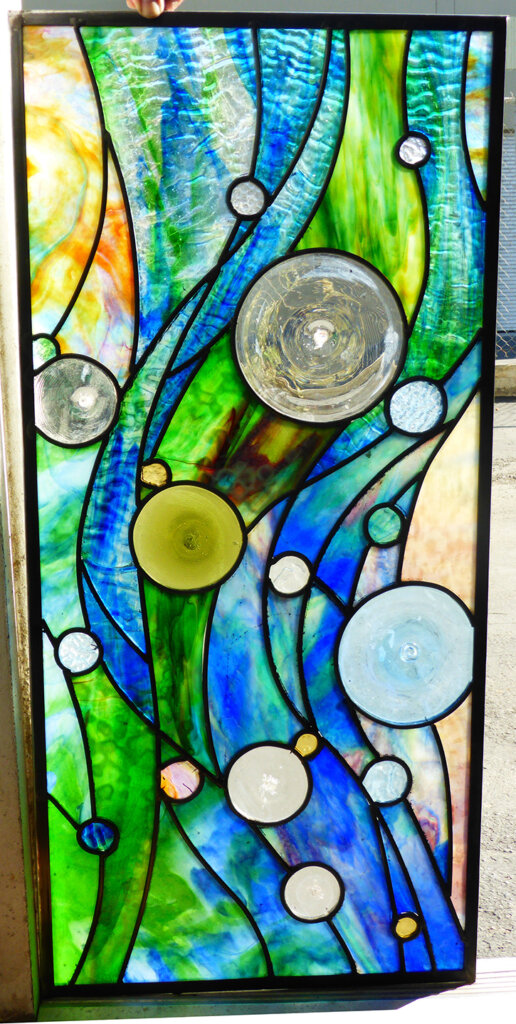 stained glass Pacific Grove window coutts pacific tides california