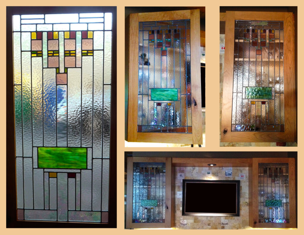stained glass San Jose door hill cabinet california