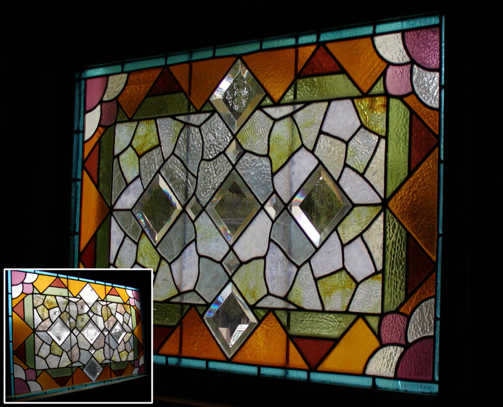 stained glass Santa Clara victorian window restoration california