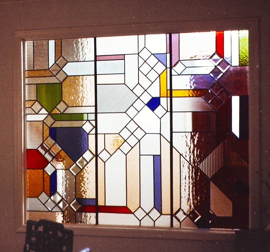 stained glass panels geometic california