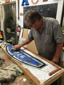 stained glass repair san jose john working sign company california