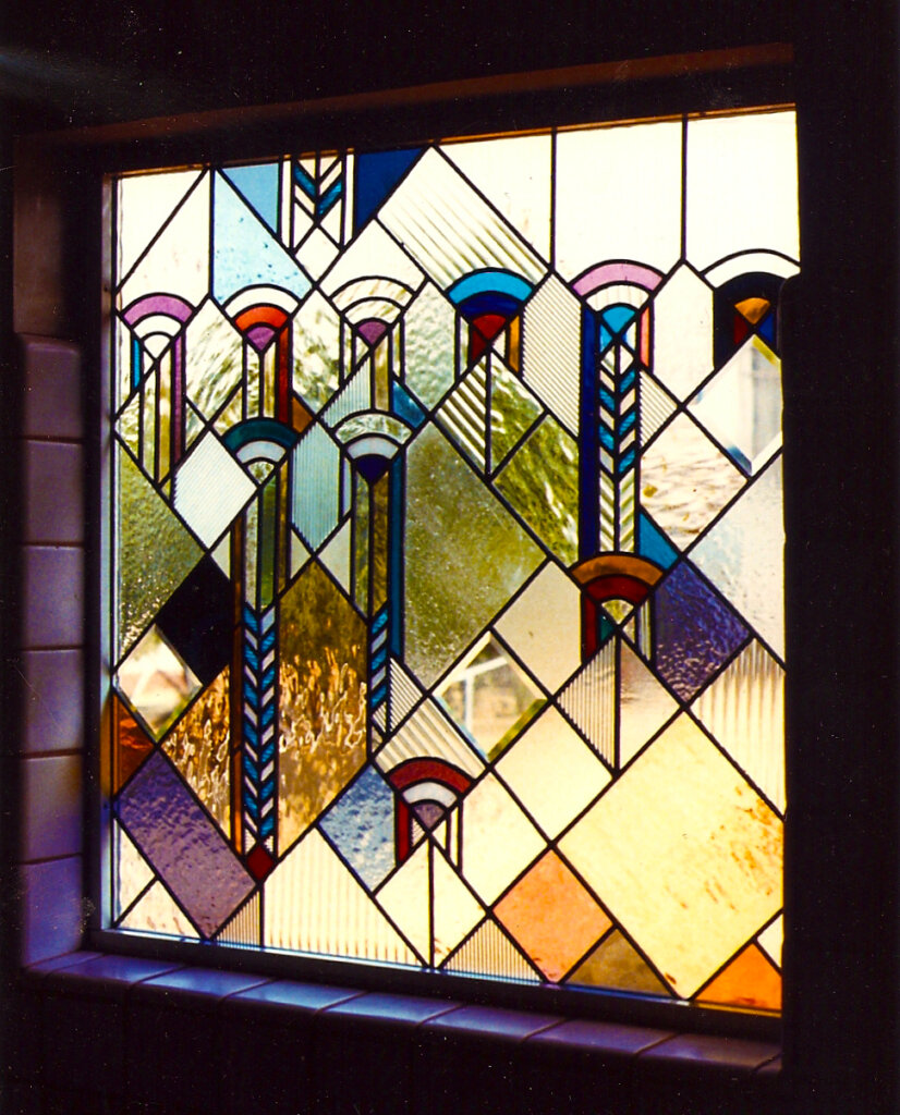 stained glass san jose repair company geometric window